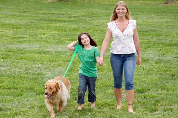 Happy Mother, Daughter And Dog Stock Image - Image of ... |Dog Mom And Daughter
